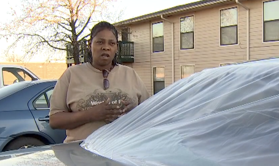 Road-raging Oklahoma racist hurls epithets and bashes in black woman's rear windshield