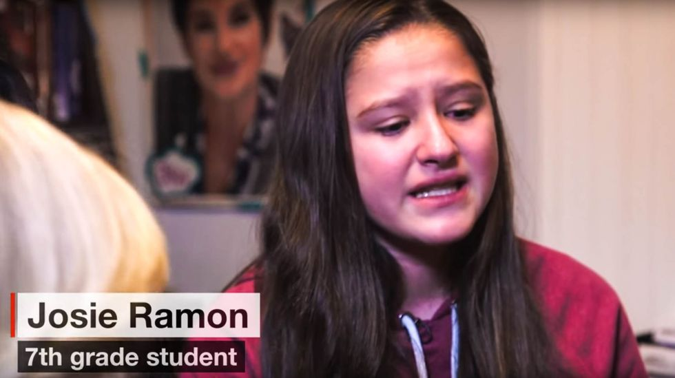 WATCH: Latina recounts the terror she experienced after filming racist 'build a wall' chant in school
