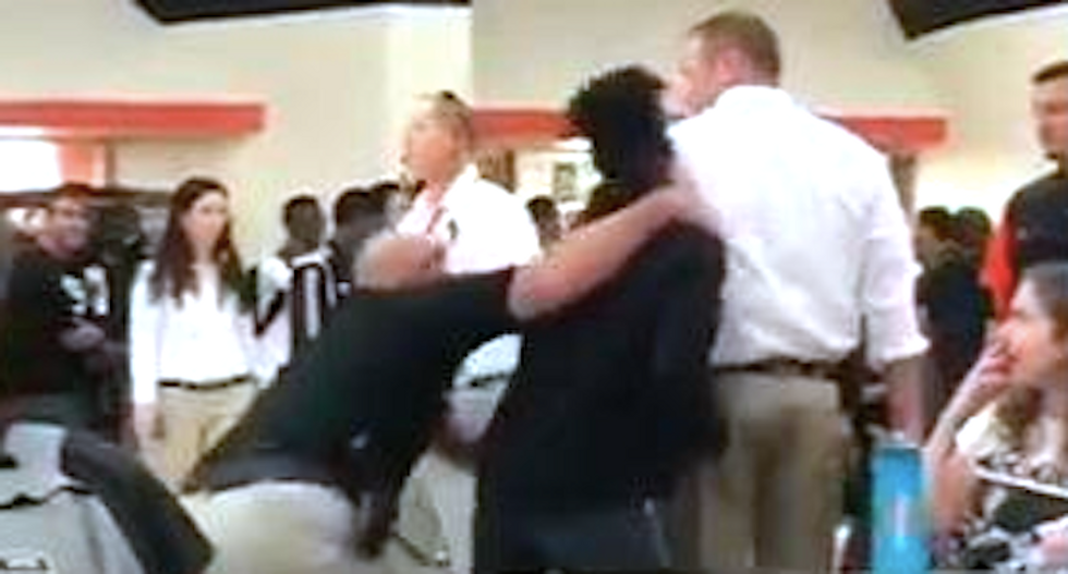 WATCH: Florida deputy body-slams teenager while trying to break up fight