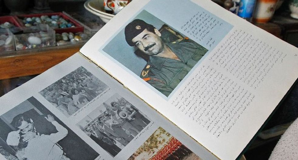 A decade later, Saddam 'lives on' in Baghdad shop