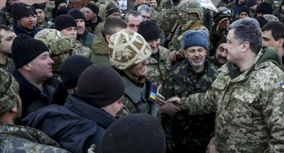 Ukrainian president calls for European 'police mission' to help salvage ceasefire deal