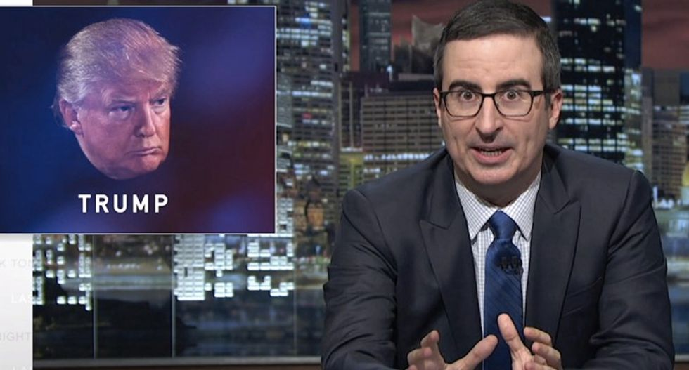 John Oliver just unleashed the most epic smack down of 'warthog in a red power tie' Donald Trump