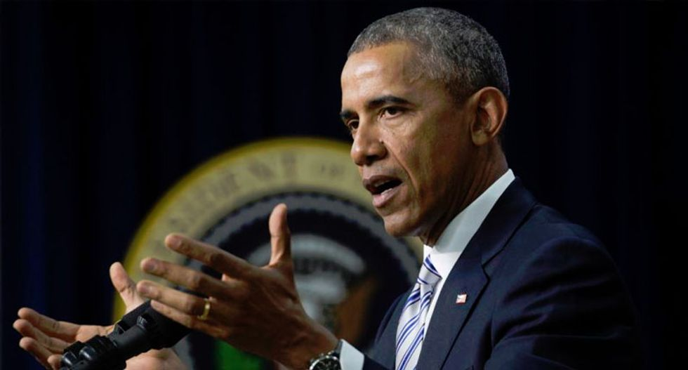 Obama says world must fight 'false promises' of religious extremism