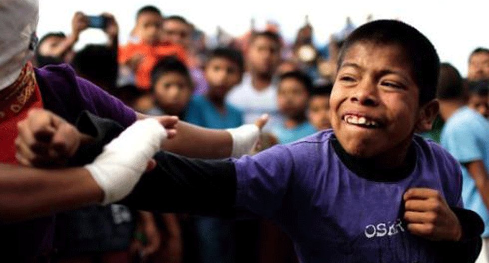Mexicans turn to fisticuffs to re-enact 500-year-old Aztec ceremony