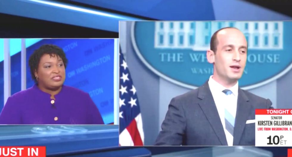 Stephen Miller 'a white nationalist' -- and he 'doesn't care about protecting many Americans': Stacey Abrams