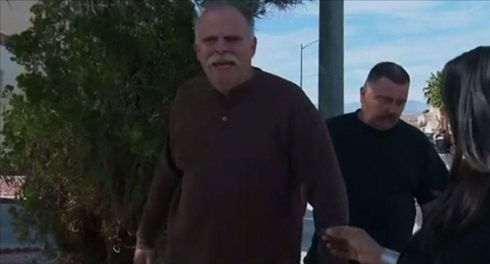 As police were arresting the suspect who allegedly killed his wife, Las Vegas man unloads on CNN