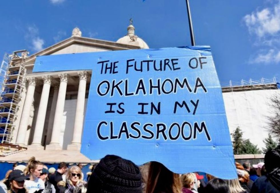 Oklahoma teachers strike enters second week with rally at Capitol