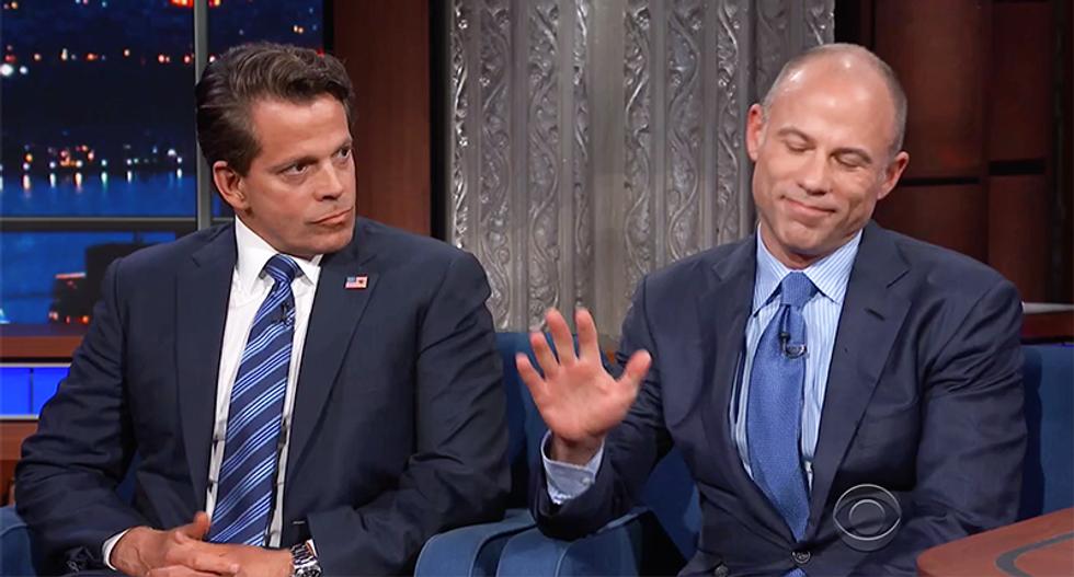 Michael Avenatti hilariously crushes Anthony Scaramucci in bizarre debate for Colbert