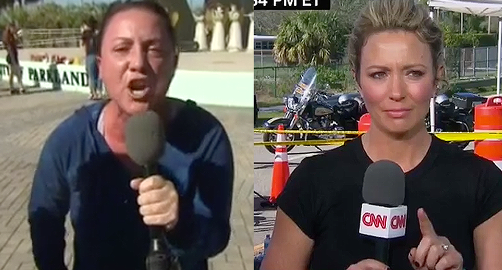Watch: Mother of slain Florida student screams at Trump live on camera -- and CNN's Brooke Baldwin falls apart