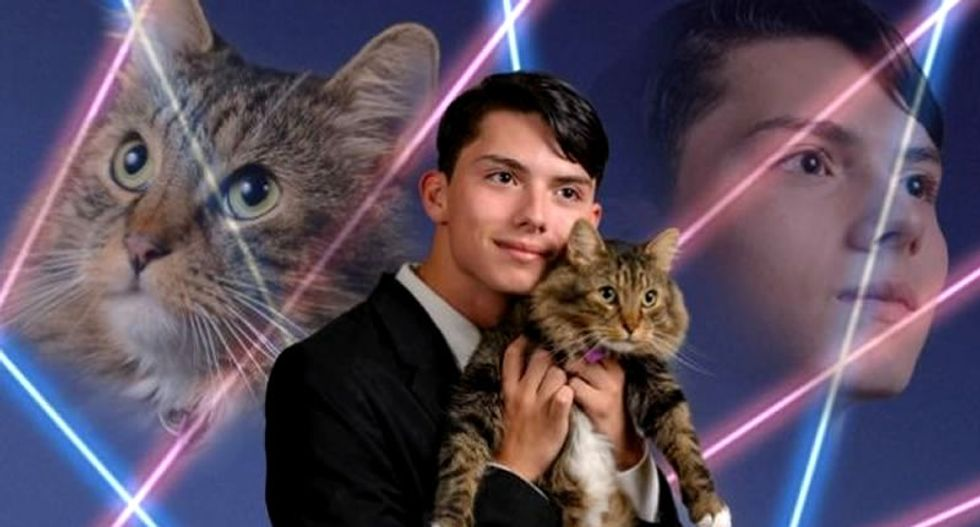 Teen who charmed Internet with 'laser cat' yearbook photo takes own life