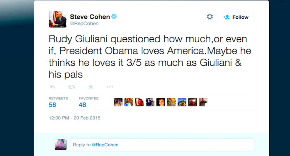 Rep. Steve Cohen wins the Internet with devastating '3/5' tweet on Giuliani's racism