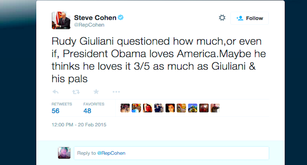 Rep. Steve Cohen wins the Internet with devastating '3/5' tweet on Giuliani's racism