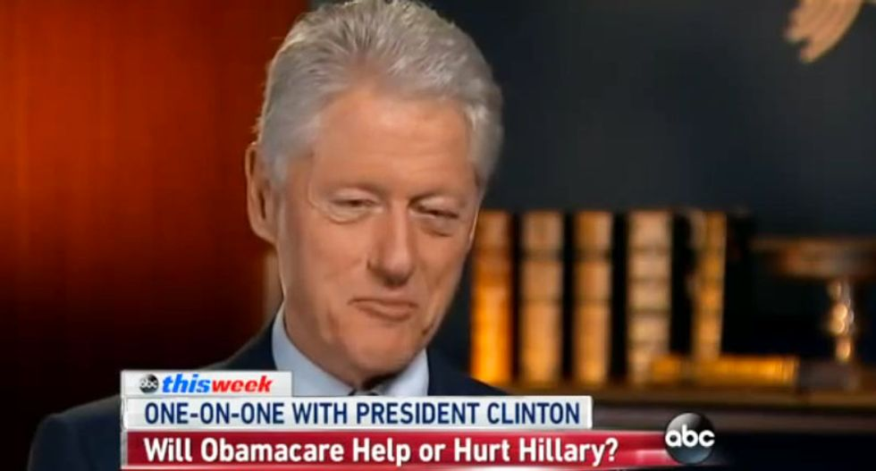 Bill Clinton pounds Republicans for 'sitting around just begging for America to fail'