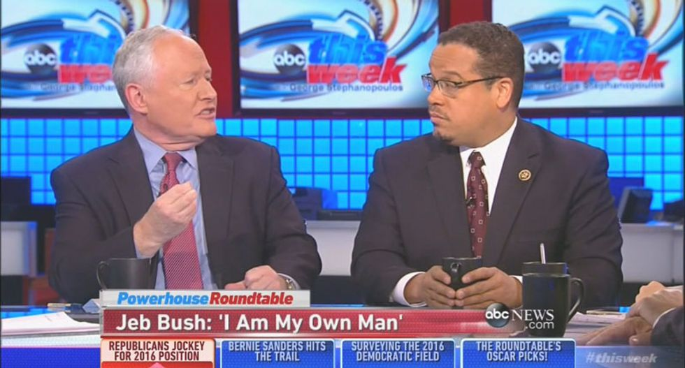 WATCH: Bill Kristol tells incredulous congressman that 'Iraq was safe and peaceful' when Bush left office