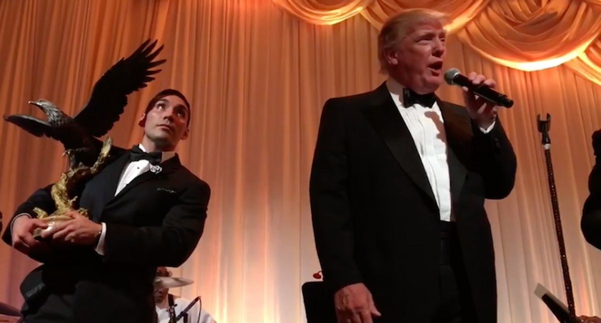 Trump mocked for tiny crowd at Mar-a-Lago super-spreader New Year's Eve party with Vanilla Ice