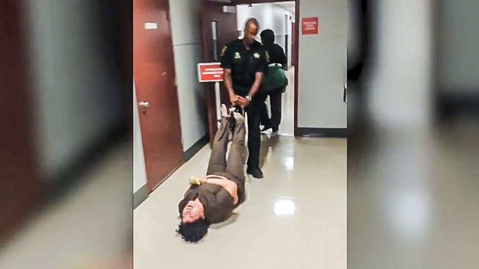 'Truly barbaric': Florida deputy drags mentally ill woman through courthouse by shackled feet