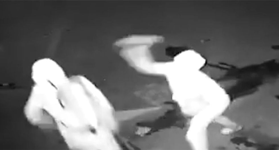 A burglary goes horribly wrong as robber slams partner in the head with a brick