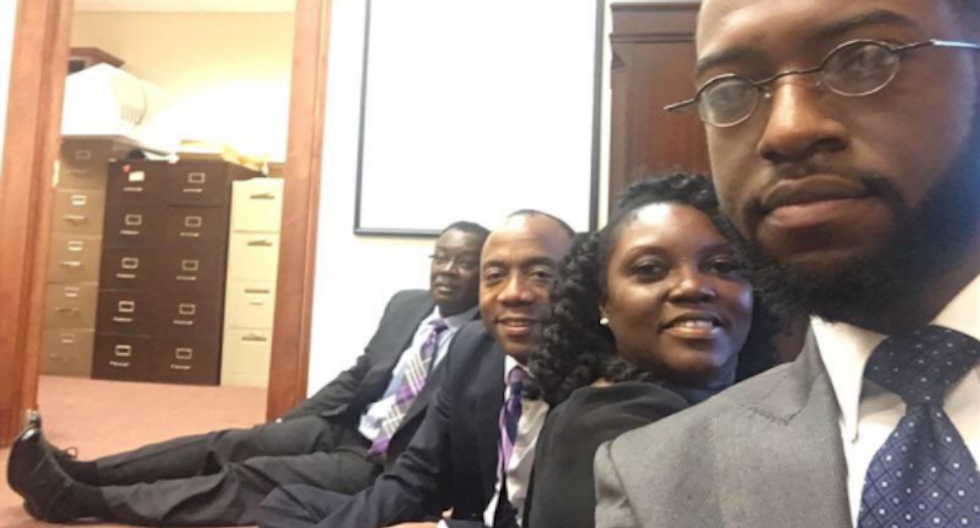 Civil rights activists arrested for protesting Trump's Attorney General pick