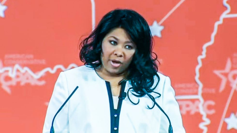 Atheist Jamila Bey tells CPAC it needs to embrace secular voters -- and gets the golf clap