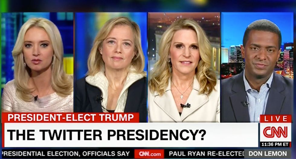 'There hasn't been a nuclear war yet': Kayleigh McEnany stuns CNN panel with joke about Trump's tweets
