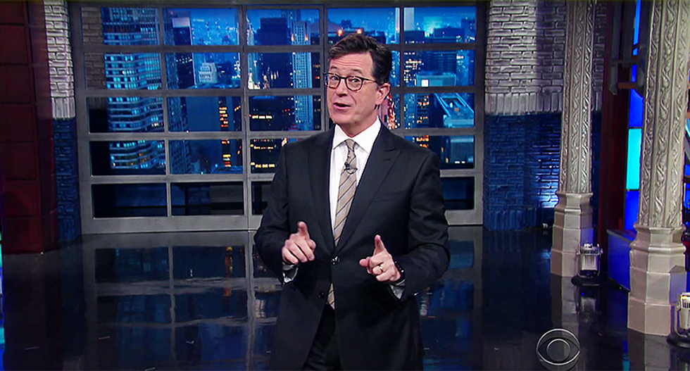 'I assume because they finally watched themselves': Colbert explains why Fox dropped slogan