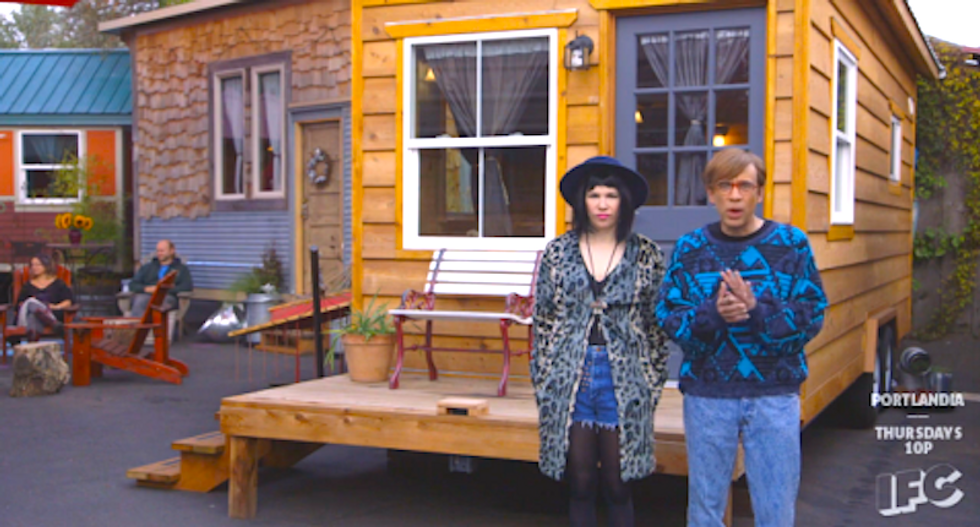 Straight out of 'Portlandia': Someone stole a small home off its foundation in Oregon