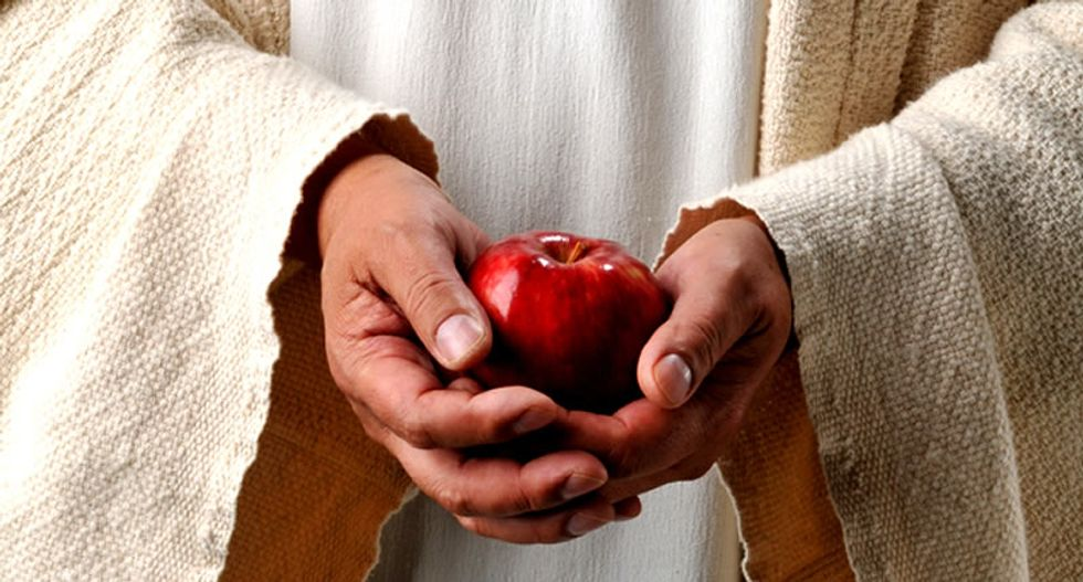 Christian college student hurls apple at pro-gay speaker, insists he didn't 'cast the first stone'