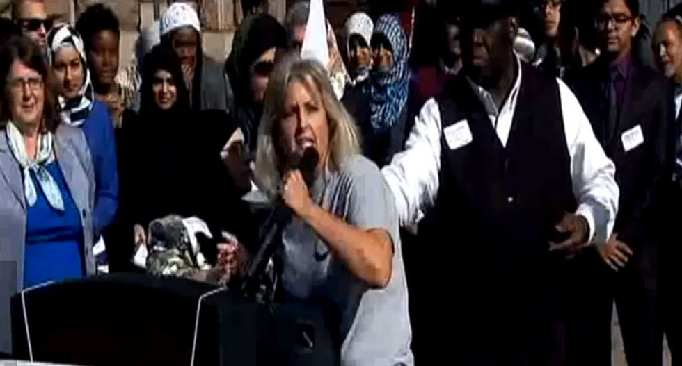 WATCH: Woman who thinks Monster Energy drinks are 'work of Satan' crashes Oklahoma Muslim event