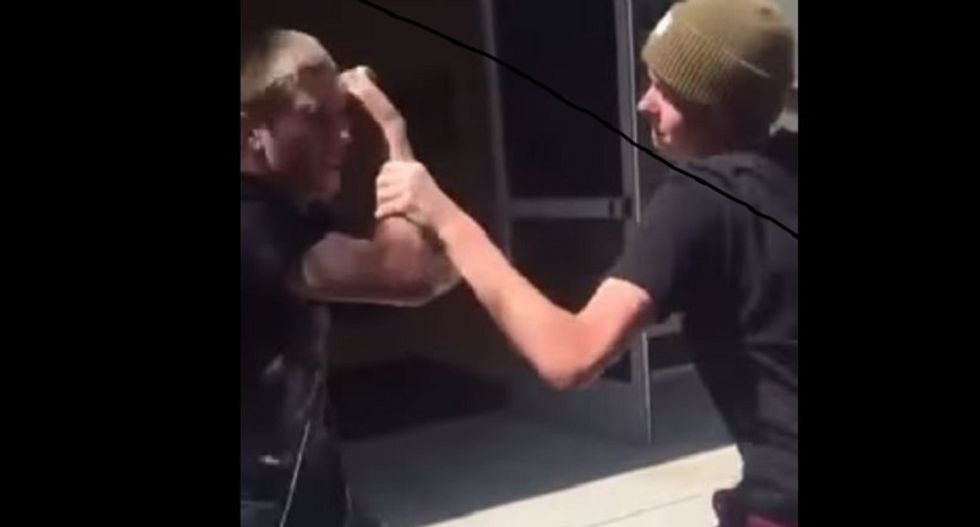 WATCH: High school student punches out bully who was attacking blind classmate