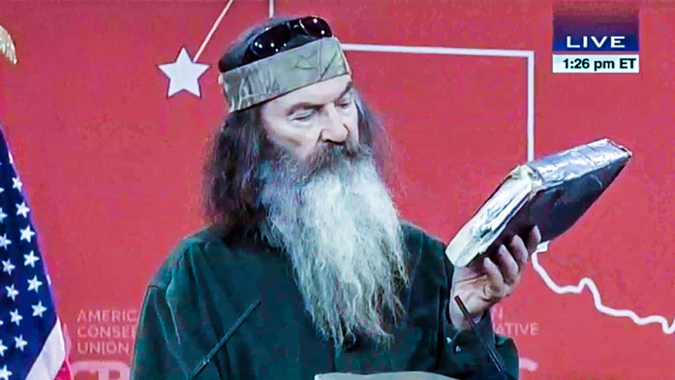 'Duck Dynasty' star Phil Robertson lectures CPAC on hippies, herpes and the Bible