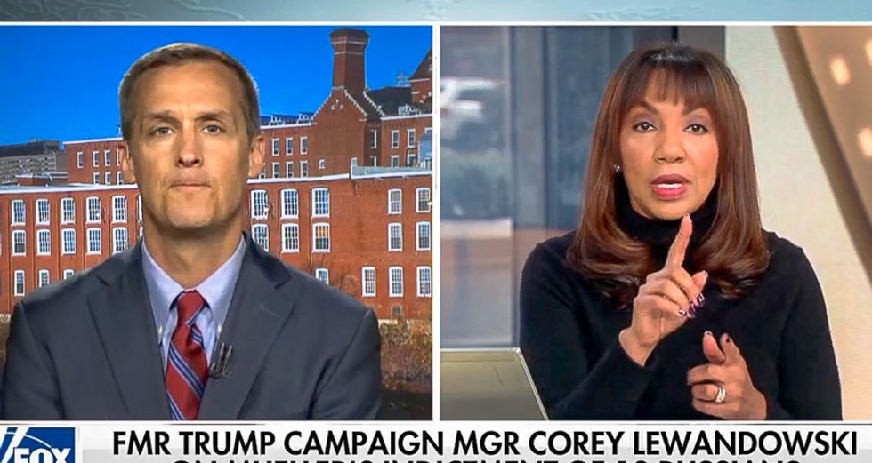 'Give me a straight answer': Fox host torpedoes Lewandowski after he deflects with rant linking Russia to Hillary