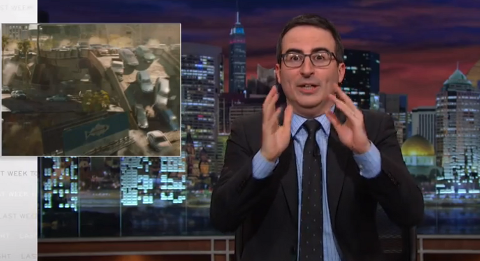 John Oliver: Even a 'total idiot' like Donald Trump knows we need to rebuild our infrastructure