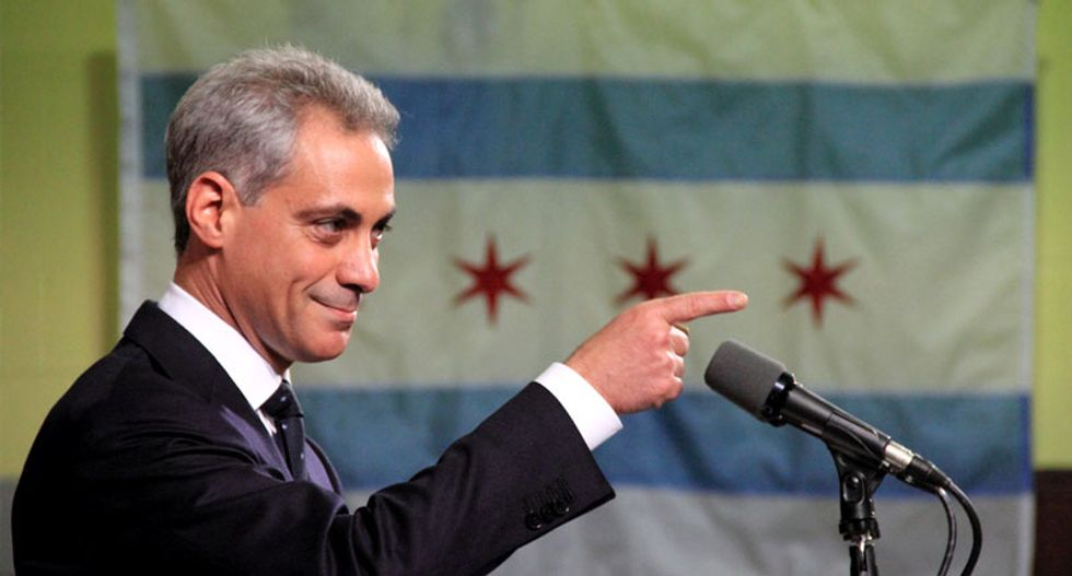 Three arrested as Chicago protesters confront Mayor Rahm Emanuel to demand police reforms