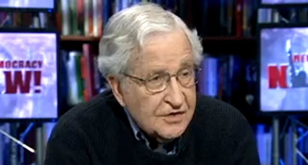 Noam Chomsky explains the value of holding your nose and voting for Hillary
