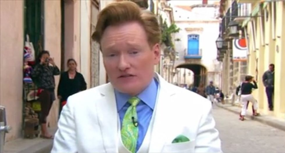 Watch the first 4 minutes of Conan O'Brien's special episode shot in Cuba