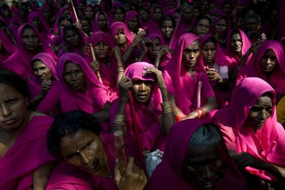 Film 'Gulabi Gang' depicts group of pink sari vigilantes who fight for women's rights in rual India