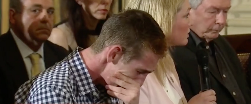 'It's still happening': Parkland survivor sobs in the White House during Trump's mass shooting listening session