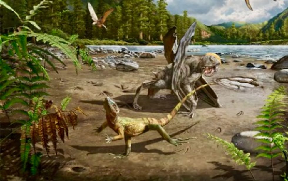 Prehistoric lizards could sprint on two legs