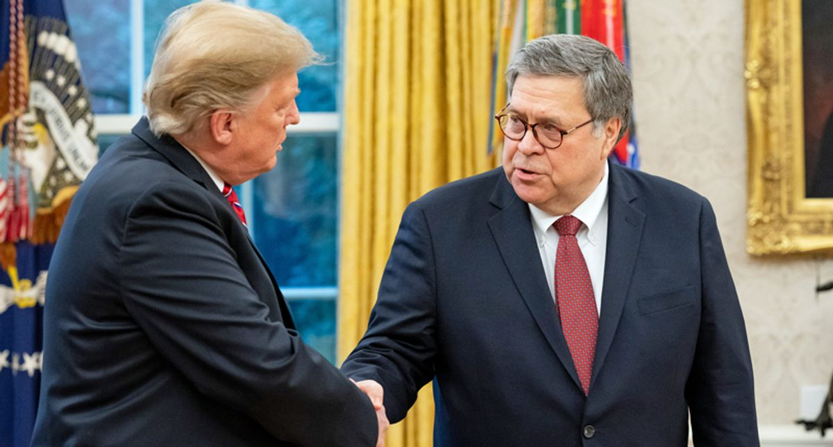 Epic Rachel Maddow explainer shows how Bill Barr and Donald Trump just got caught