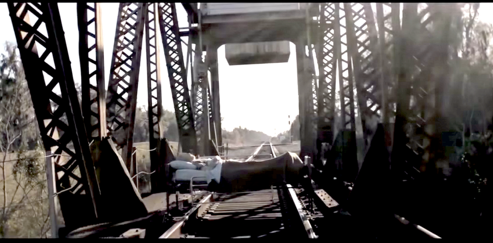 Video shows terrifying seconds before Georgia film crew's fatal run-in with freight train