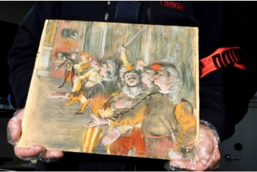 Stolen Degas painting found on a bus near Paris