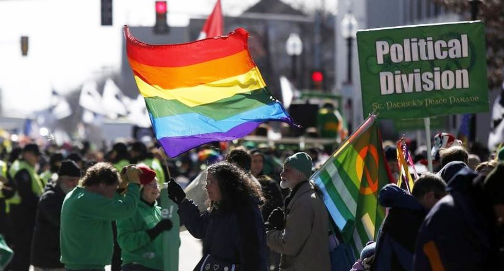 Gay rights activists make their debut as part of Boston's St. Patrick's Day parade