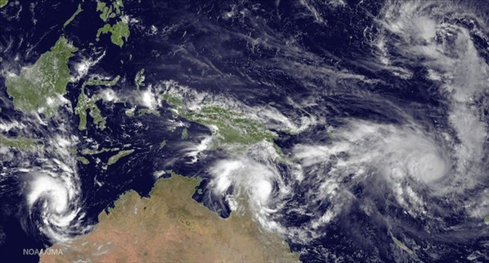 Double trouble: 'Twin' cyclones could kickstart this year's weak 'El Niño'