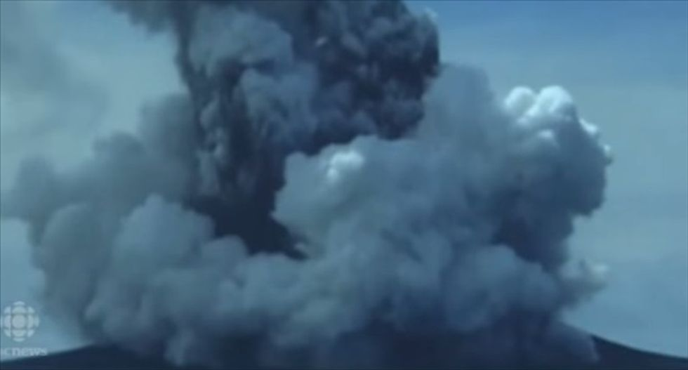 WATCH: Underwater volcano's eruption leads to formation of new Tongan island