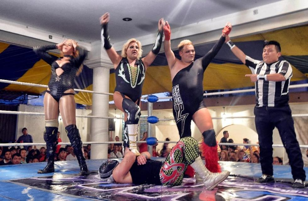 Drag and trans wrestlers fight for acceptance in Mexico's 'lucha libre' wrestling world