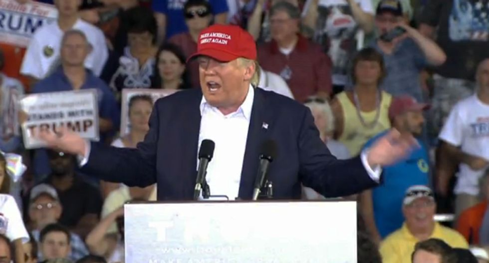 Supporters tell horrified GOP pollster why they trust Trump to make America great again: 'It's on his hat'