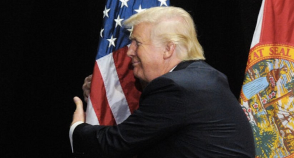 Here's how Trump exploited poverty-stricken Americans' patriotism for personal gain