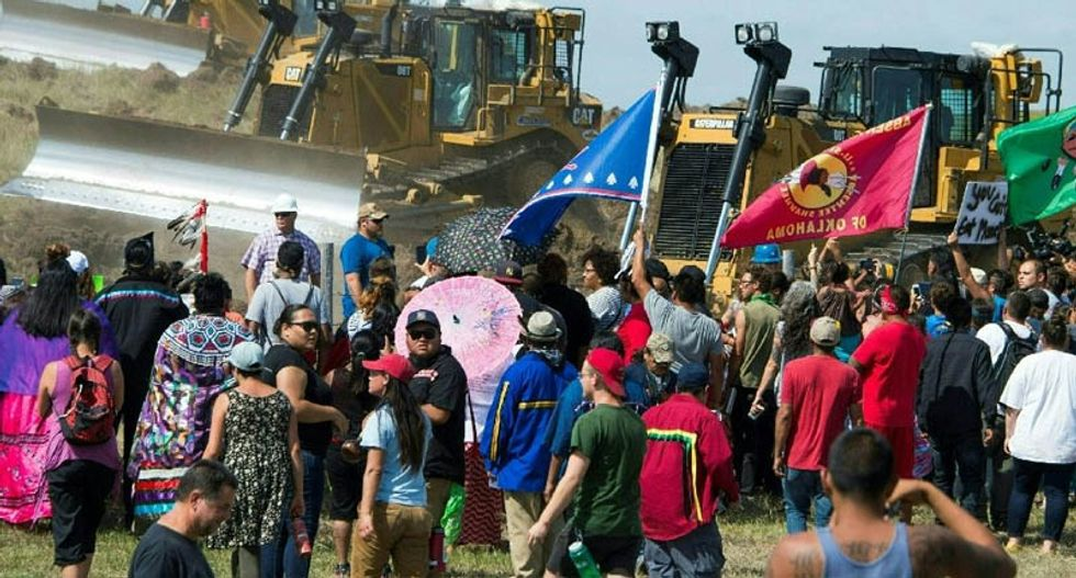 Tribe vows to continue N. Dakota pipeline fight despite arrests