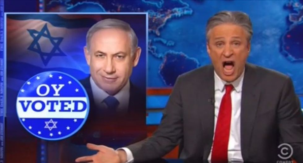 Jon Stewart says GOP should sue Netanyahu: 'Ginning up racist fears' for votes is their thing