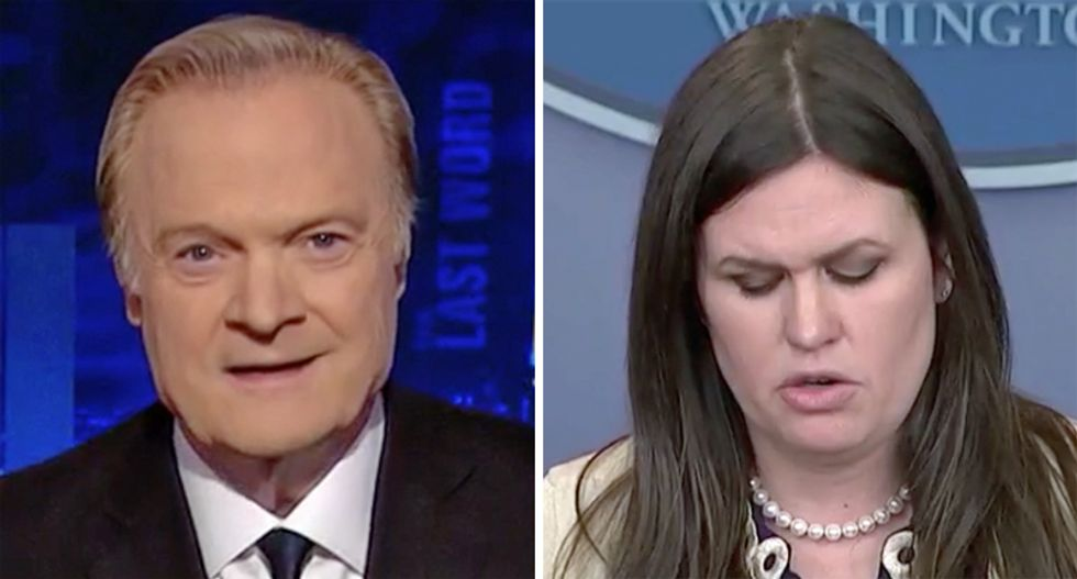 BUSTED: Lawrence O'Donnell unearthed visual proof that 'pathological liar' Sarah Huckabee Sanders 'lied about her lie'